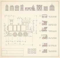 locomotief ingenieurs vector