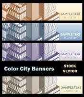 Thema van de stad vector