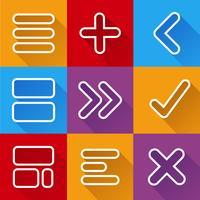 Pijl pictogrammen vector