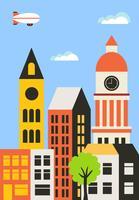 Achtergrond van de stad vector