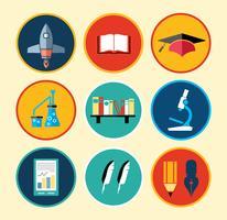 school pictogrammen vector