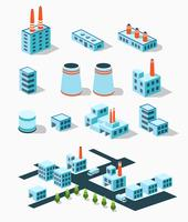 Industriële gebouwen vector