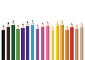 kleurrijke kleur potlood achtergrond vector