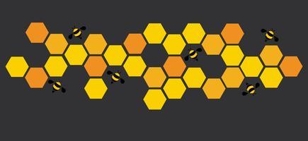 zeshoek bijenkorf ontwerp kunst en ruimte achtergrond vector