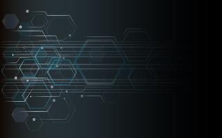 de vorm van zeshoek conceptontwerp abstracte technische achtergrond vector