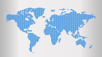 Wereldkaart vector