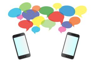 smartphone-meldingen en achtergrond vector