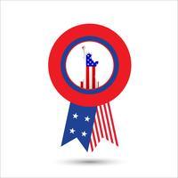 Amerikaanse banners sjabloonontwerp vector
