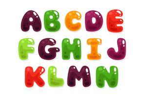 Kleurrijke jelly alfabetten voor kinderen deel 2 vector