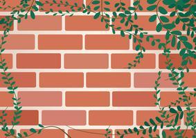 Jas knoppen Mexicaanse daisy plant op muur van bakstenen en ruimte achtergrond kunst vector