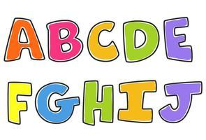 kinderen kleurrijke alfabetten deel 1 vector