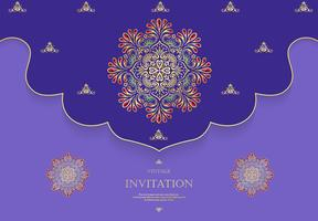 Huwelijk of uitnodigingskaart uitstekende stijl met achtergrond van het kristallen de abstracte patroon