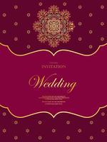 Huwelijk of uitnodigingskaart uitstekende stijl met achtergrond van het kristallen de abstracte patroon vector