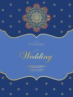 Huwelijk of uitnodigingskaart uitstekende stijl met het patroonachtergrond van kristallen abstarct, vectorelementeps10 illustratie, Indiër, islam, huwelijk, uitnodiging vector