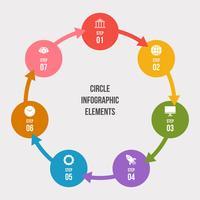 Cirkeldiagram, Cirkel infographic of Cirkeldiagram vector