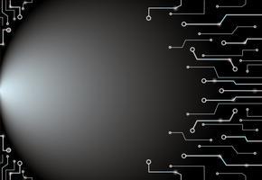 Abstracte zwarte de kunstachtergrond en ruimte van technologielijnen
