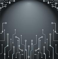 Abstracte technologie lijnen kunst en ruimte achtergrond vector