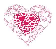 Harten in hart vector