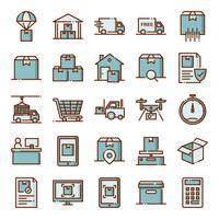 Logistieke pictogrammen pack vector