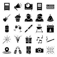 Partij pictogrammen pack vector