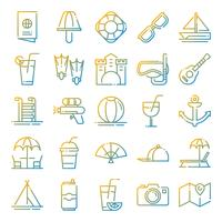 Zomer pictogrammen pack