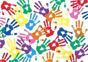 Kleurrijke handafdrukken vector