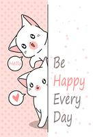 2 kleine katten zeggen hoi.
