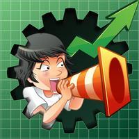 De persoon nodigt uit om aandelen te kopen. vector