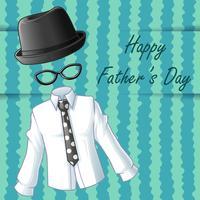 Gelukkige vaders dag in cartoon stijl.