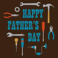 Gelukkige Vaderdag grafisch met hulpmiddelen vector