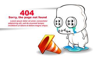 niet gevonden pagina. vector