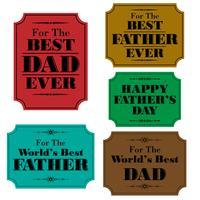 gelukkige vadersdaglabels vector