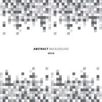 Abstracte kopbal en footers geometrische witte en grijze het pixelachtergrond van het vierkantenpatroon met exemplaarruimte.