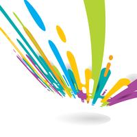 Abstracte felle kleur afgerond vormen lijnen overgangsperspectief achtergrond