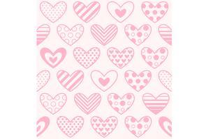 Heart print naadloze achtergrond
