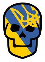 embleem met schedel vector
