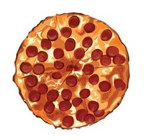 de pizza cartoon vector