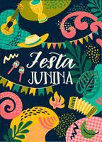 Latijns-Amerikaanse vakantie, het junifeest van Brazilië. Festa Junina. vector