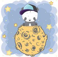 schattige kleine Panda vector