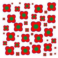 Rood patroon bloemontwerp vector