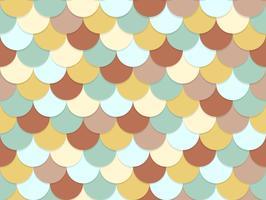 Naadloos patroon van de overlappende achtergrond van de cirkelpastelkleur vector