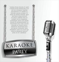 Retro vintage microfoon ontwerp achtergrond vector
