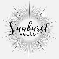 Zonnestraalstijl op witte achtergrond, Barstende stralen vectorillustratie wordt geïsoleerd die.