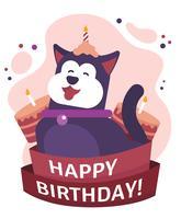 Gelukkige verjaardag dieren vector
