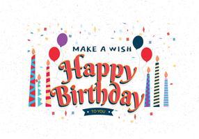 Gelukkige verjaardag Typografie Vol 3 Vector