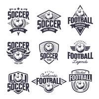 Voetbal klassieke vector emblemen instellen