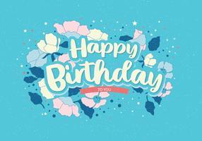 Gelukkige verjaardag Typografie Vol 2 Vector