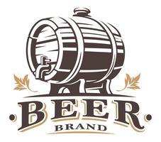 Vintage vat bier vector