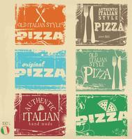 Pizza achtergrond retro ontwerp vector