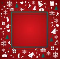 Kerstmiselementen met ruimtepatroon vectorillustratie als achtergrond vector
